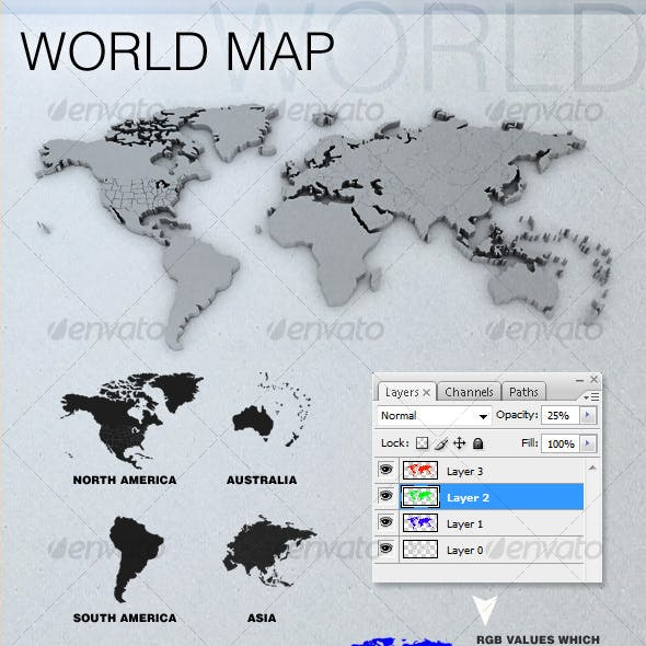 3D World Map(s)