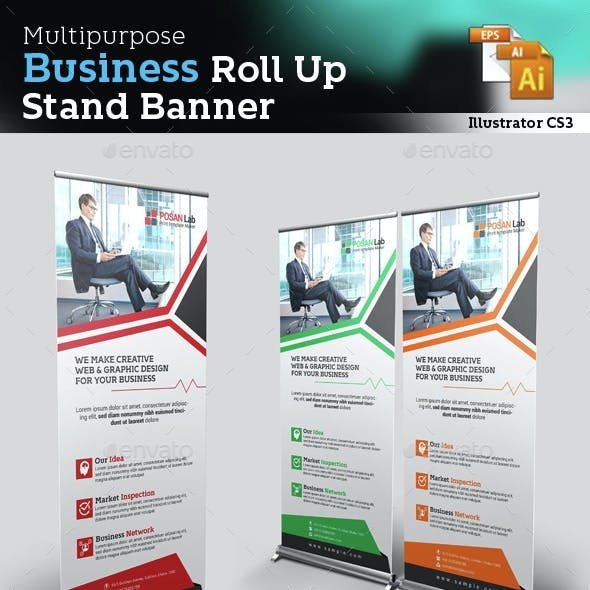 Corporate Roll Up Stand Banner