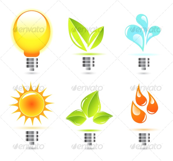 Nature in electricity. Icons - Seasonal Icons