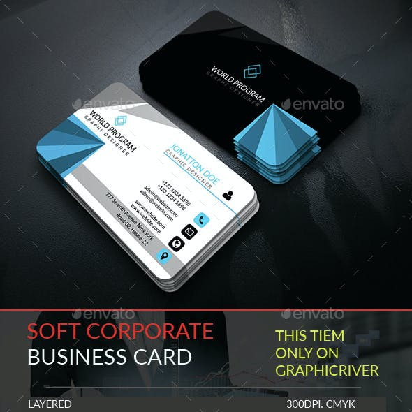 Soft Corporate Business Card.257