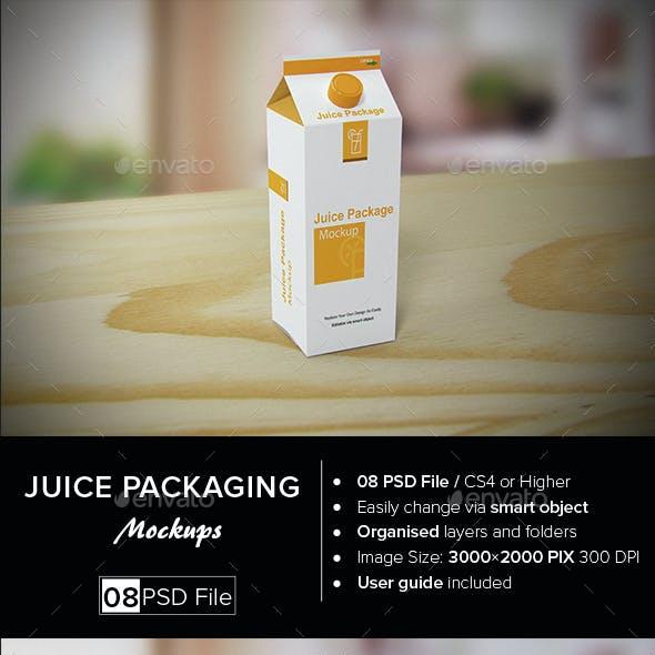 Juice Packaging Mock-up
