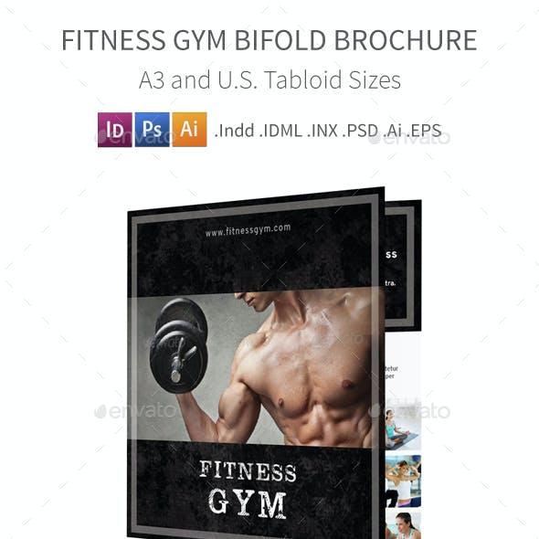 Fitness Gym Bifold / Halffold Brochure 3