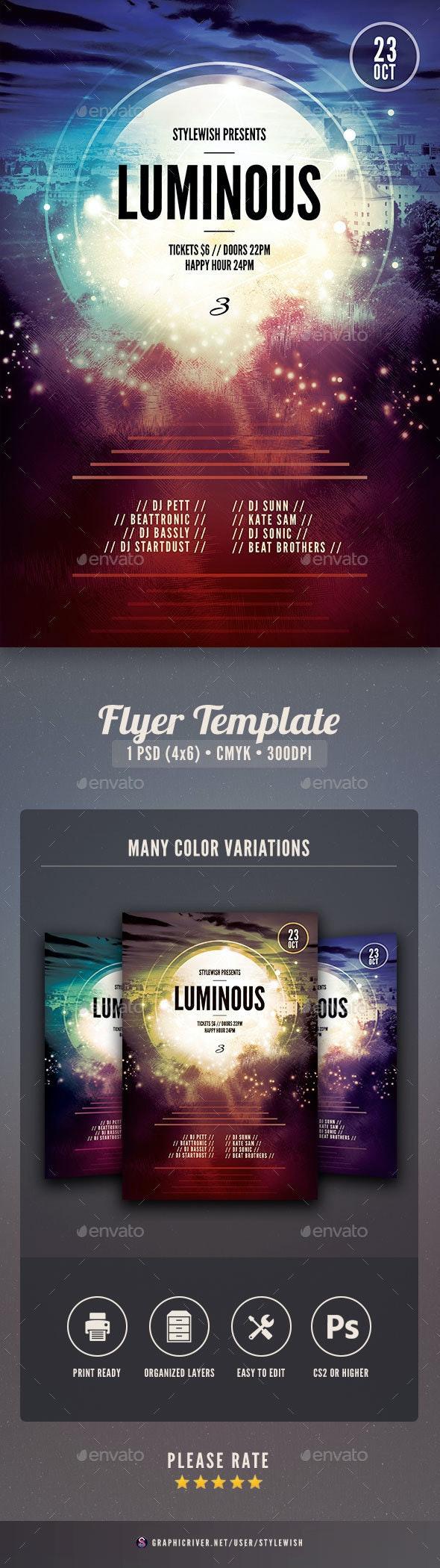 Luminous 3 Flyer - Concerts Events