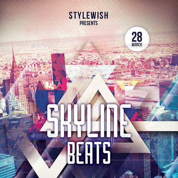 Skyline Beats Flyer
