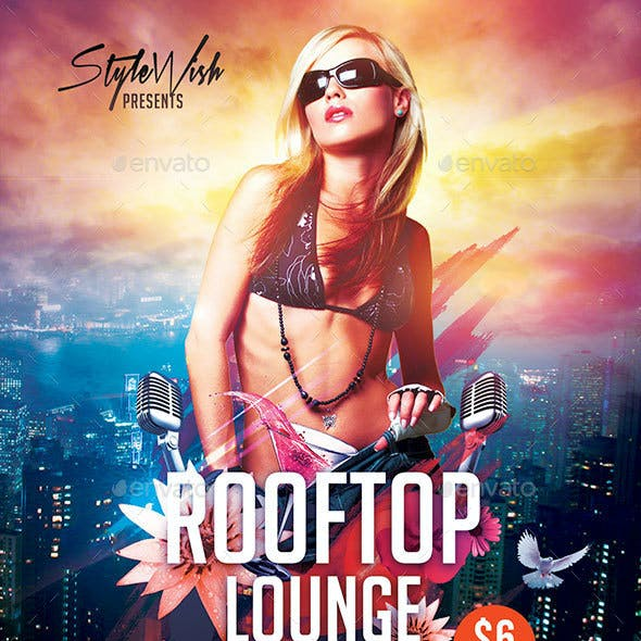Rooftop Lounge Flyer