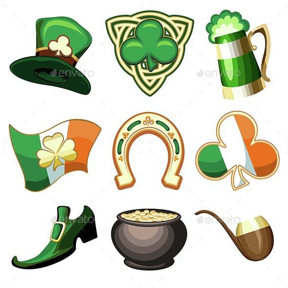 Saint Patrick's Day Emblem Set