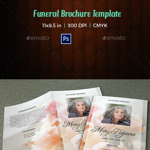 Funeral Program Template-V07