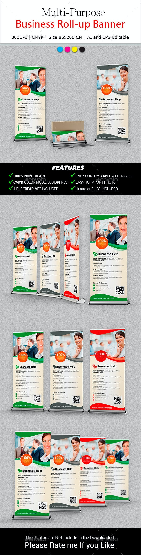 Multipurpose Business Roll-Up Banner - Signage Print Templates