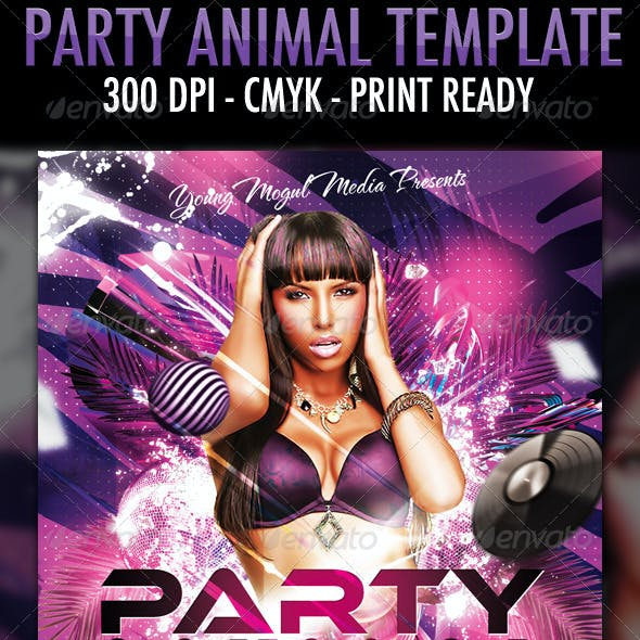 Party Animal Flyer Template