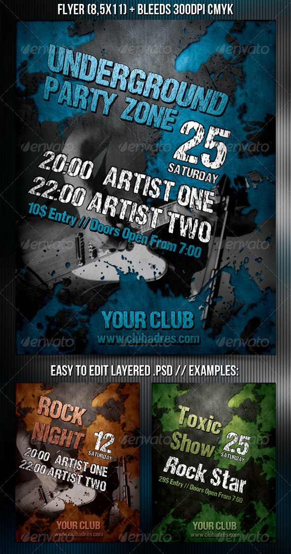 Underground Party Flyer - Clubs & Parties Events