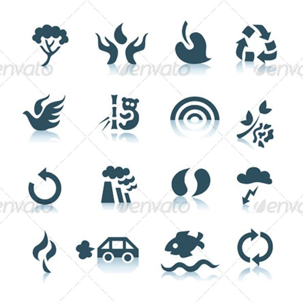 Gray ecology icons