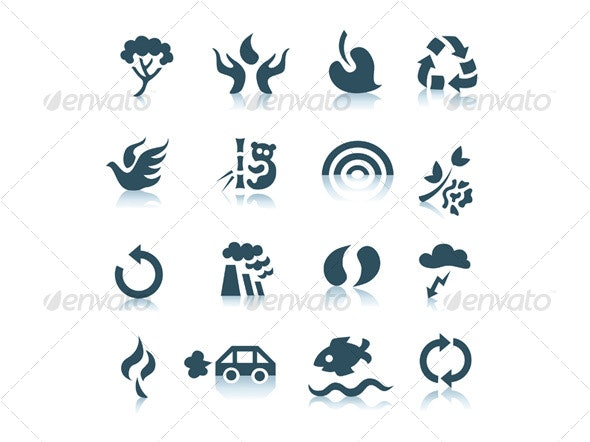 Gray ecology icons - Miscellaneous Icons