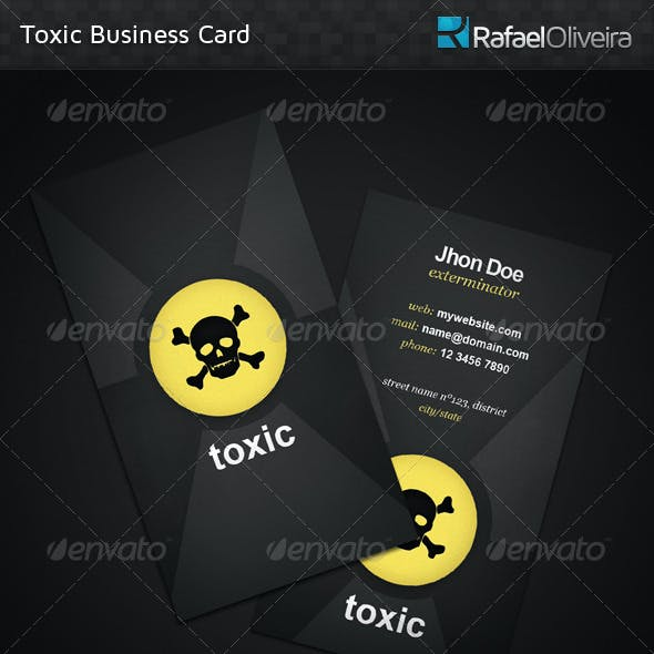 Toxic Business Card