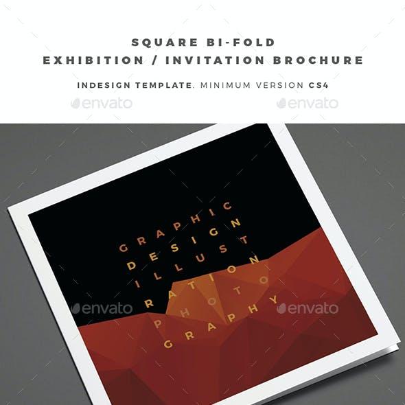 Square Bi-Fold Exhibition / Invitation Brochure