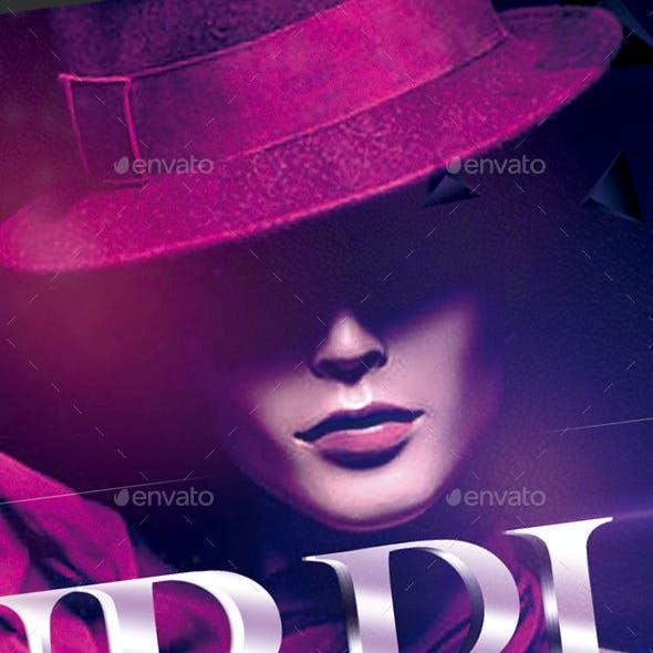 Flyer Purpura Luxurious Night