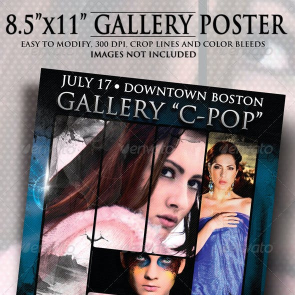 """8.5""""x11"""" Gallery Poster"""