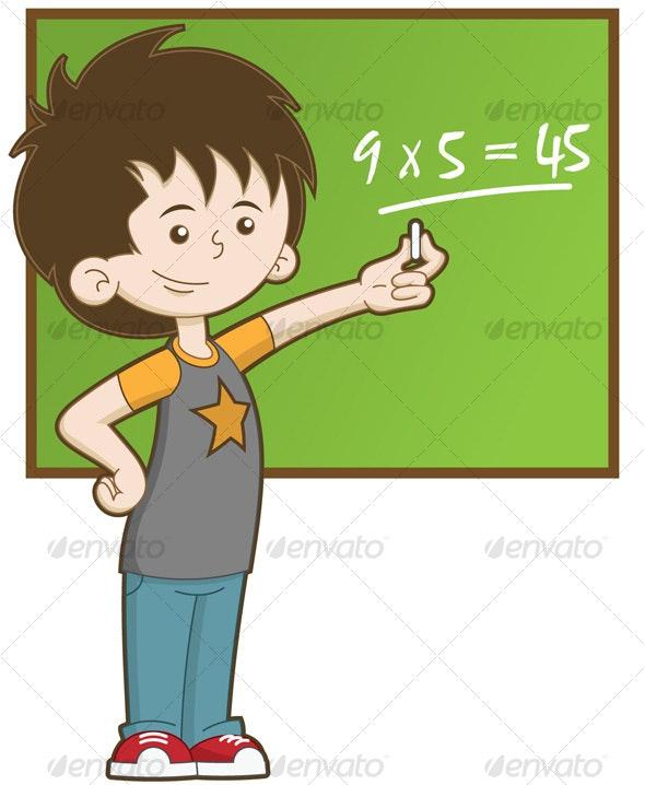 Kid at School - People Characters