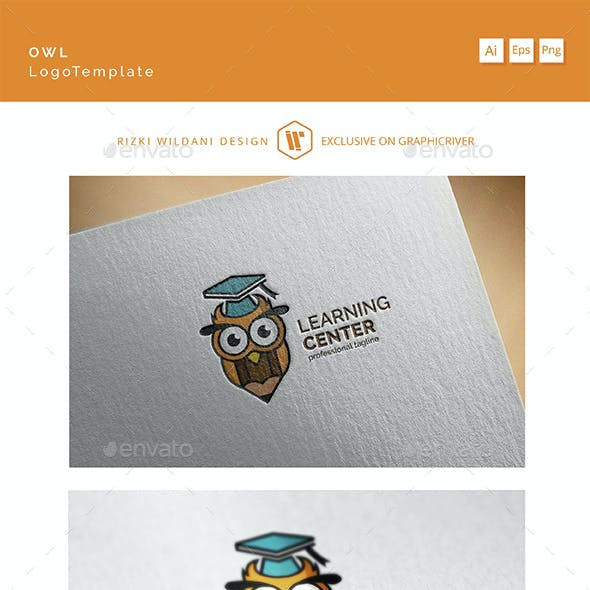 Learning Center - Logo Owl Template