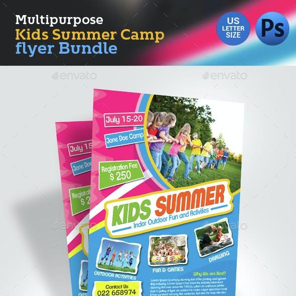 Kids Summer Camp Flyer Bundle