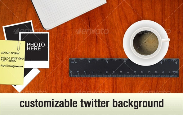 Coffee Table Twitter Background - Miscellaneous Web Elements