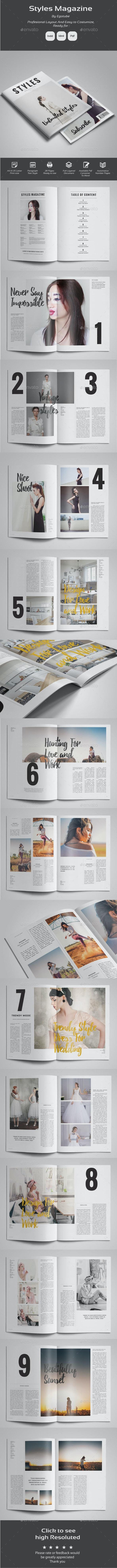 Style Magazine Template - Magazines Print Templates