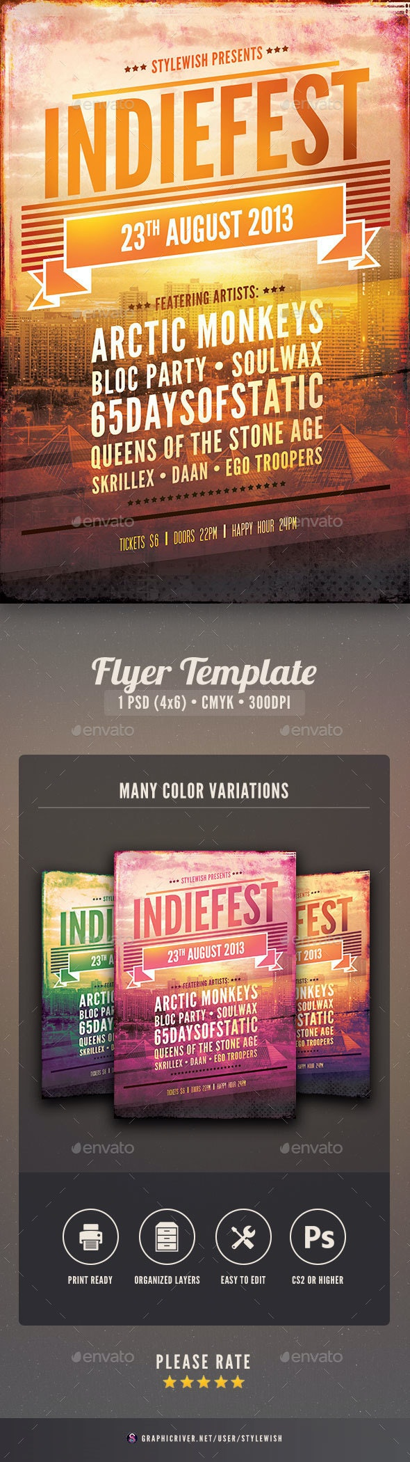 Indie Flyer - Clubs & Parties Events