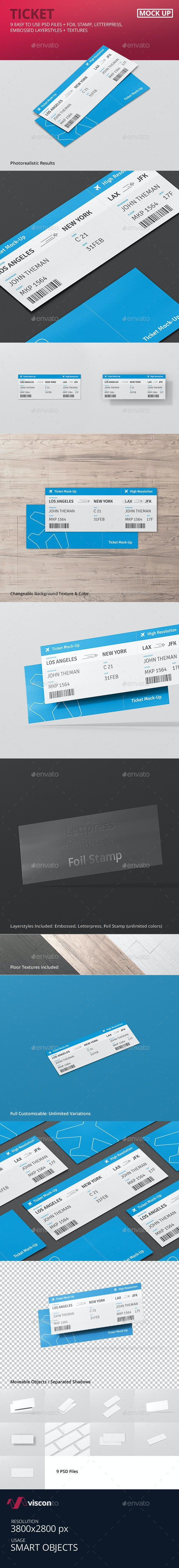 Ticket Mockup - Miscellaneous Print