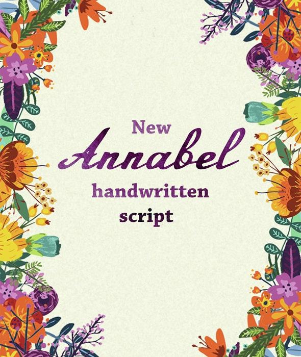 Annabel Script Typeface - Calligraphy Script