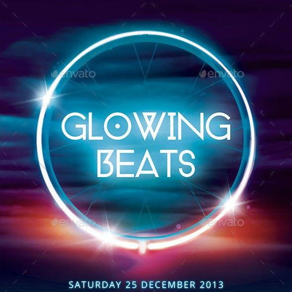 Glowing Beats Flyer