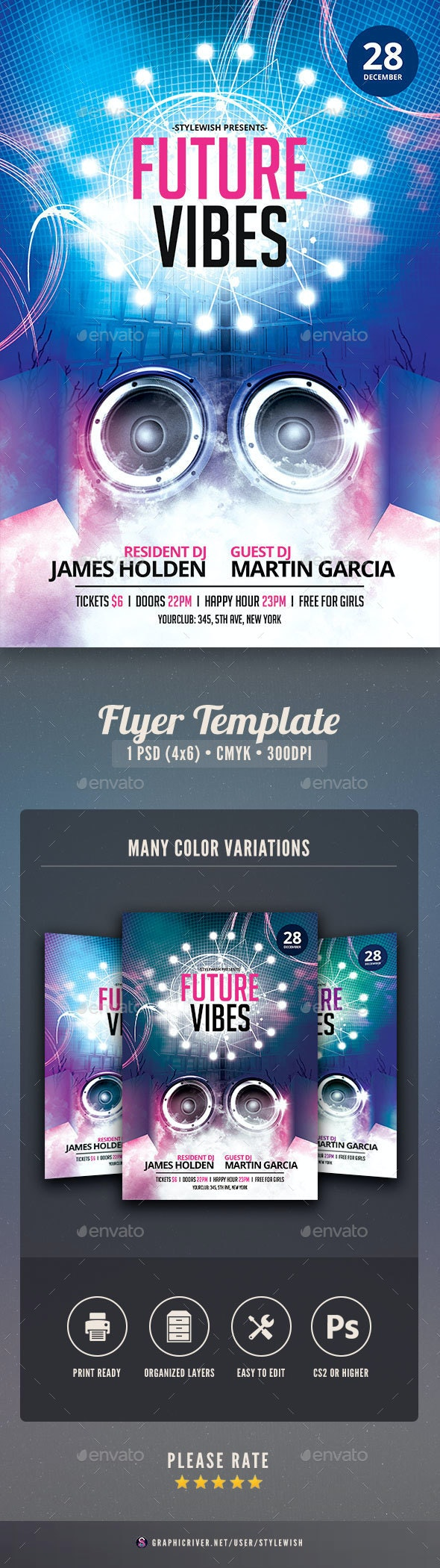 Future Vibes Flyer - Clubs & Parties Events