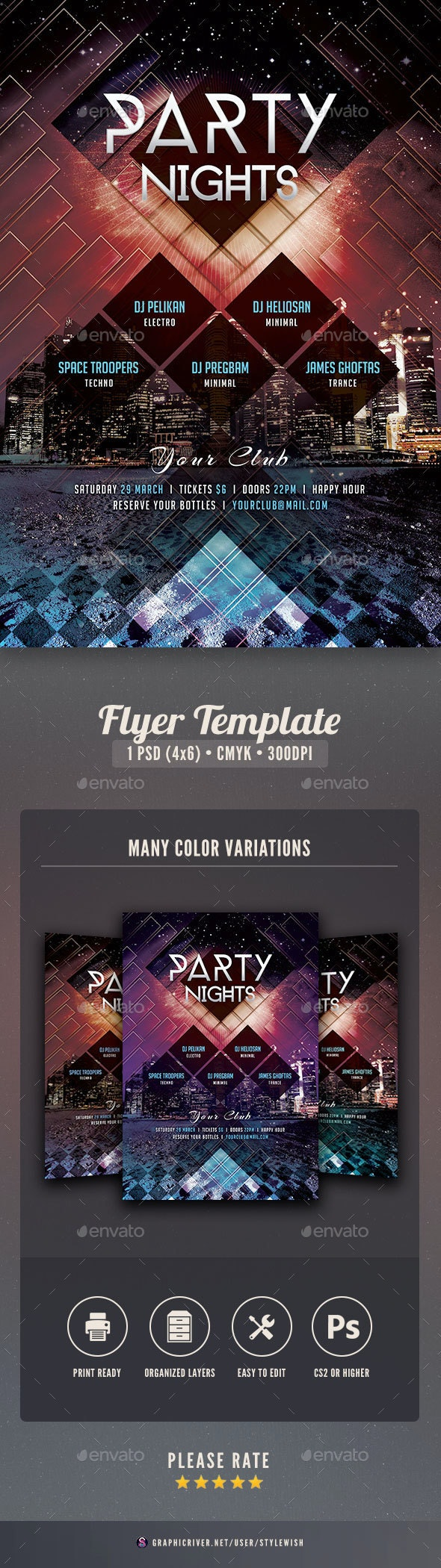 Party Nights Flyer - Clubs & Parties Events