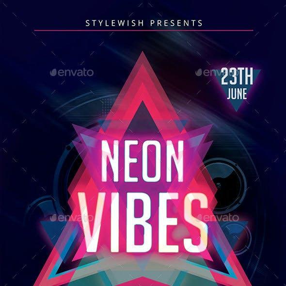 Neon Vibes Flyer + Fb Timeline