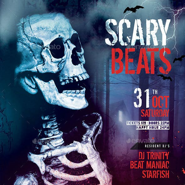 Scary Beats Flyer