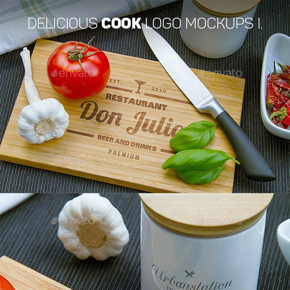 Delicious Cook Logo Mockups I