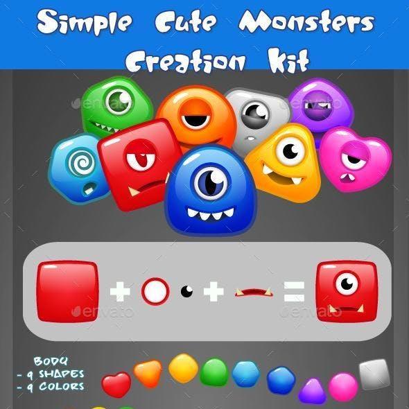 Simple Cute MonstersCreation Kit