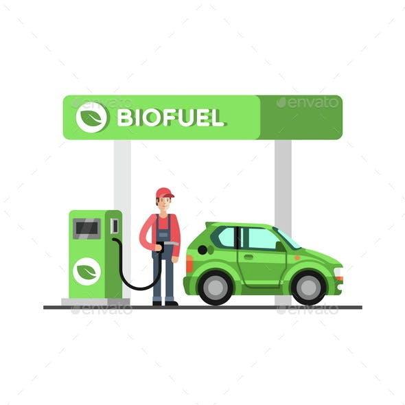 Biofuel Eco Fuel Petrol Station Green Energy