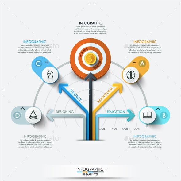 Modern Infographic Target Marketing Concept