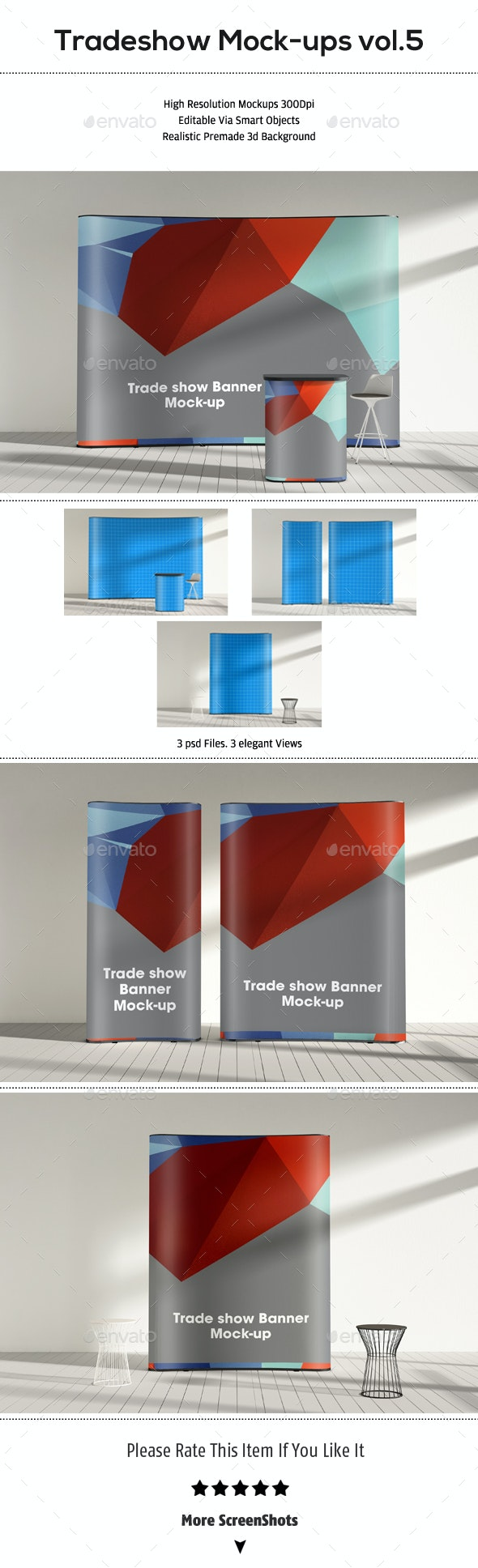 Trade-show Display Booth Mock-up vol.05 - Product Mock-Ups Graphics