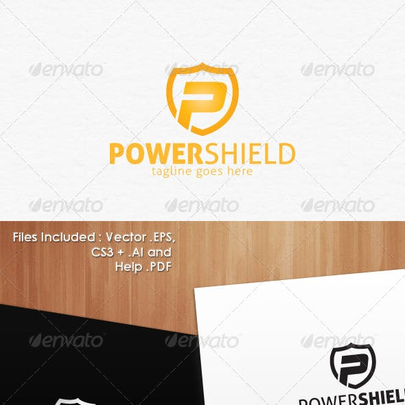 Power Shield Secure Logo Design