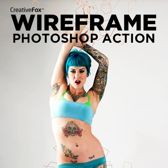 Wireframe Photoshop Action - Wireframe Dispersion Creator