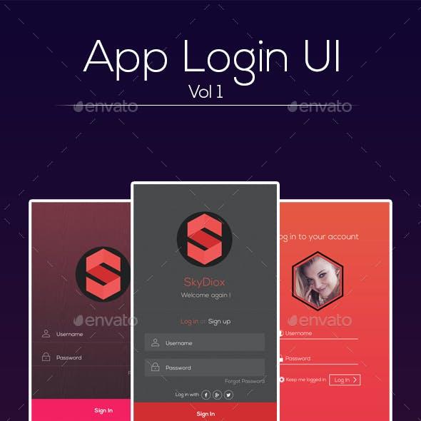 App Login UI Vol 1