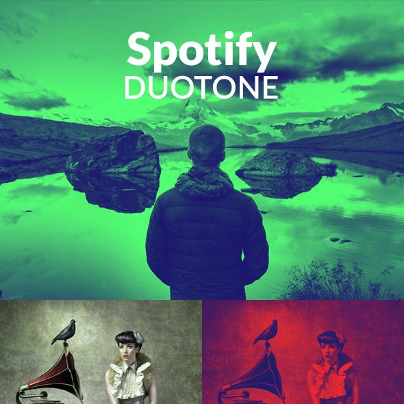 Spotify Duotone Effect