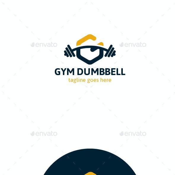 Gym Dumbbell Logo