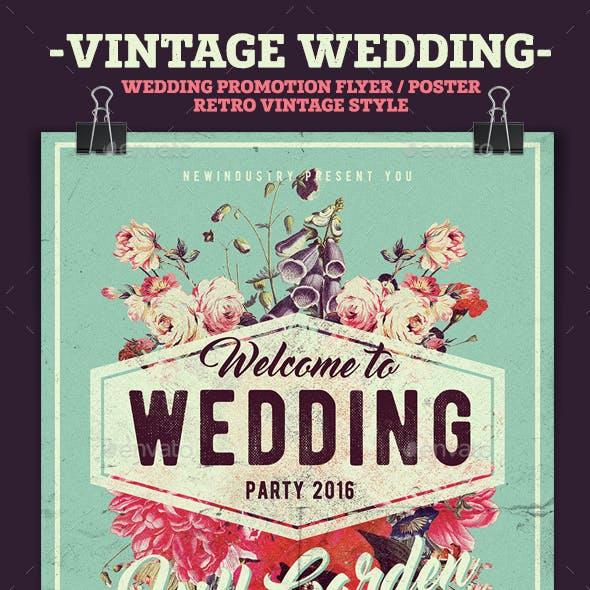 Vintage Wedding Poster