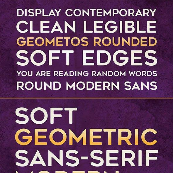 Geometos Rounded Typeface