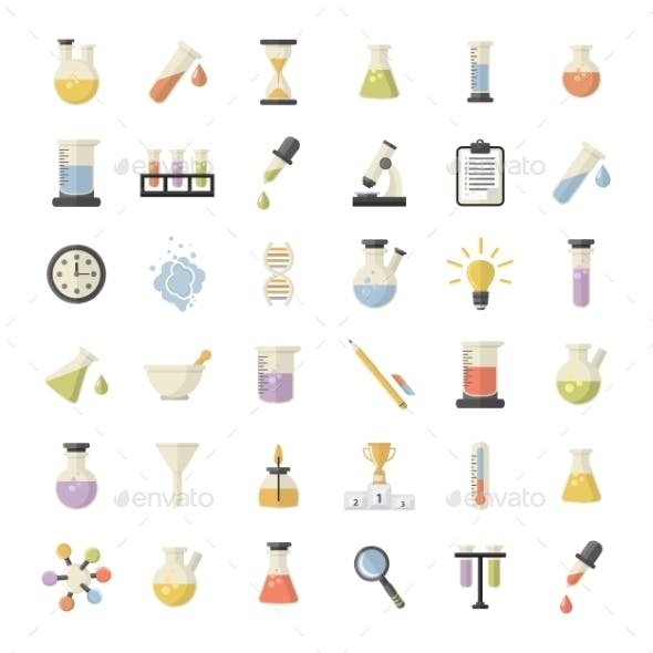 Science And Research Icons Set