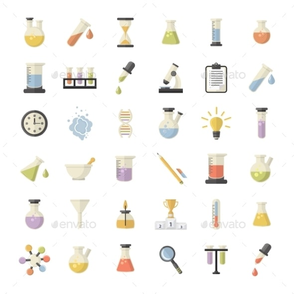 Science And Research Icons Set - Health/Medicine Conceptual