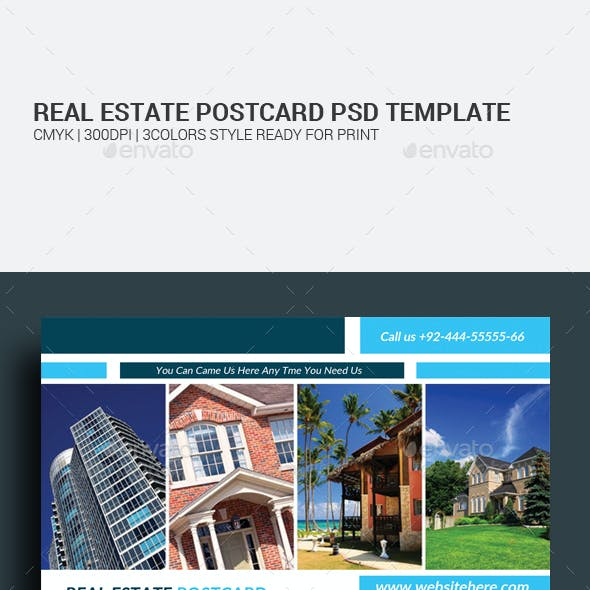 Real Estate and Fitness Postcards Bundle