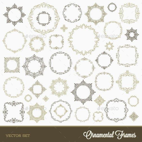 Set of Flourishes Ornament Frames
