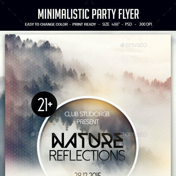 Minimalistic Party Flyer